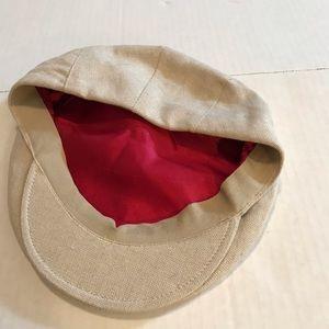 Orvis Italy Mens Linen Driving Newsboy Cap Hat L